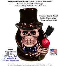 Black Reaper Skull modern Hookah Type Tobacco Pipe Ceramic Glass 1883 from USA
