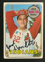 Jack Hamilton Indians signed 1969 Topps baseball card #629 Auto Autograph