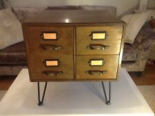 King George V Post office bank of 4 Drawers  = Recycled coffee / bed side table