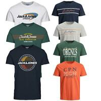 Jack & Jones T-shirt Mens T shirt Crew Neck Logo Print Casual Summer Tee Tops