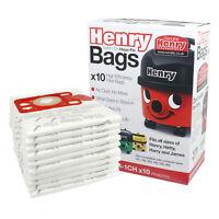 GENUINE HENRY HETTY HEPA FLO HEPAFLO Vacuum Hoover Dust BAG x 10 Pack