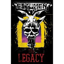 Testament The Legacy Poster Flag Premium Textile Wall Banner Official Band Merch