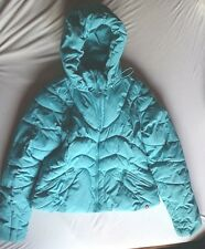 edc Esprit Winterjacke XL 42  Basic warm türkis blau WOW Winter Ski NEUw Kapuze