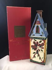 Lenox Winter Greetings Toleware Nuthatch Birdhouse Votive with box