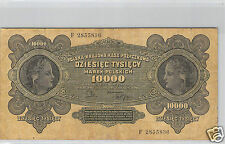 POLOGNE 10 000 MAREK 11.3.1922 N° E 2855836 PICK 32