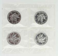 1999 $5 Canada Silver Maple Leaf Coin - 1 OZ 9999 Fine Silver Lot 4 Elizabeth II