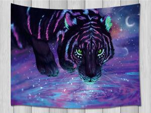 Coveimes Galaxy Nebula Tiger Animal Tapestry For Living Room Bedroom Wall Rug