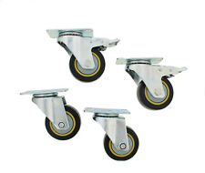 "ABN® Swivel Plate Caster Wheels 3"" Inches Set of 4 Locking Casters for Furniture"