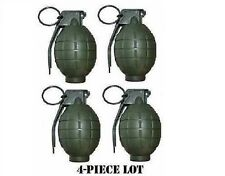 4 Pack GREEN Toy Dummy Grenades WITH SOUND! USA Seller * LABOR DAY SPECIAL *