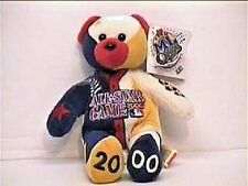 ATLANTA BRAVES 2000 ALL-STAR GAME MULTI-COLOR COLLECTIBLE BEAR WITH LOGOS