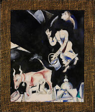 PAINTING CHAGALL DONKEY ON THE ROOF XXL POSTER WALL ART PRINT LLF0183