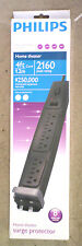 Philips 2,160 Joules  8-Outlet Home Theater Surge Protector - SPP3301WA/17