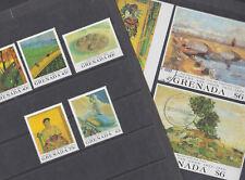Grenada 1991 Used FU Full Set Minisheets Vincent Van Gogh Paintings Oak Tree
