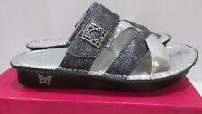 Alegria Leather Multi Strap Slide Sandals -Victoriah- Glimmer Glam EU 39 US 9