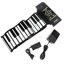 Portable Flexible Roll Up 88 Key Soft Keyboard Electronic Piano + Sustain Pedal