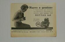 Pubblicità 1933 NETTAR IKONTA FOTO PHOTO advertising reklame werbung publicitè