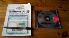 MICROSOFT WINDOWS 95 - PC OPERATING SYSTEM inc CD SAMPLER, MANUAL & CODE