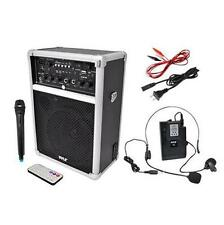 New Pyle 400W Wireless PA System W/USB SD MP3 FM Radio 1 Lavalier 1 Handheld Mic