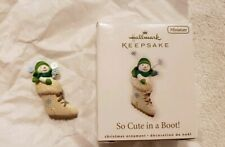 Hallmark Miniature Ornament So Cute in a Boot! 2010, Excellent!