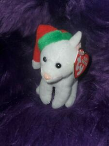 """2009 TY Holiday Baby Beanies TWINKLING Cat 4"""" Christmas Ornament Plush Mint nwt"""
