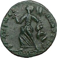 ARCADIUS 383AD Ancient Roman Coin VICTORY NIKE w trophy i23242