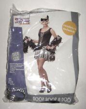 Sz 11-13 Halloween Costume Sexy Flapper Girl Dress Gloves Bracelet Headband Boa