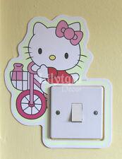 HELLO Kitty bici luce interruttore Coprire Adesivo Glow in Dark Ragazze Sala Decorazione