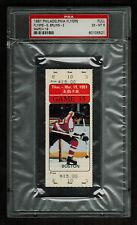 PSA 6 PAUL HOLMGREN TICKET 1980 NHL Philadelphia Flyers BOBBY CLARKE 1,000 POINT