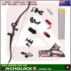 "Recurve Bow Hunting Bow Set Takedown Target shooting Archery Pro Kit 54"" Pack"