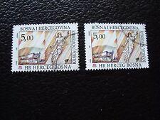BOSNIE-HERZEGOVINE (herceg bosna) - timbre yt n° 8 x2 obl (A33) stamp (E)