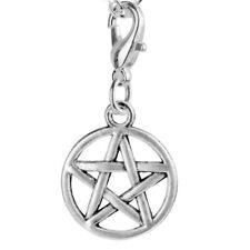 CLIP ON CHARM Pentagram x 10 Pieces Tibetan Silver Clip For Bracelet