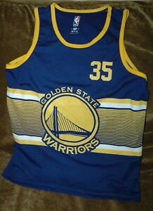 Kevin Durant jersey Golden State Warriors YOUTH MEDIUM NEW with tags NBA blue