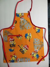 "MINIONS pattern Child's Apron, new, handmade, 17""Wx20""L"