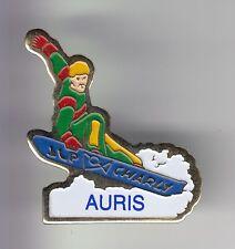 RARE PINS PIN'S .. SPORT HIVER SKI SKIING SNOWBOARD MONOSKI AURIS OISANS 38 ~C7