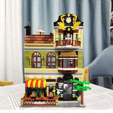 Building Blocks Bricks Toys Series Rome Restaurants Creator MOC Street QL0937