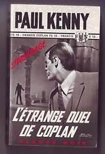 Kenny - Fleuve Noir  de 1968 /  l'etrange duel de coplan -