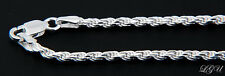 "STERLING SILVER ITALY DC ROPE CHAIN NECKLACE 18"" 3.5mm"