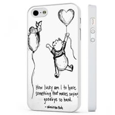 Cute Winnie The Pooh Quote WHITE PHONE CASE COVER fits iPHONE