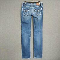 Big Star Nico  Low Rise Straight Leg Womens Jeans Sz 28 L Distressed