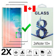 2Pack Full Cover Tempered Glass Screen Protector for Samsung Galaxy Note 10 Plus