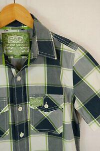 Superdry Check Lumberjack Style Short Slleve Check Shirt Small VGC