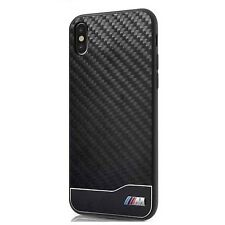 BMW M Carbon Back Cover iPhone x Hard Case Metal Logo Black