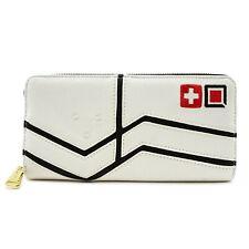 Loungefly Overwatch Mercy Women's Zip Around Wallet With Applique, Cream