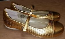 Antthony Design Orig Mary Jane Shoes Two Tone Women US 8.5 Gold Pre Owned