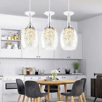 3 LED Crystal Wine Glasses Chandelier Ceiling Lights Pendant Lamp 90cm Length US