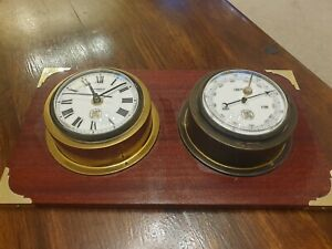 Vintage Staiger Clock and Barometer Made in Germany