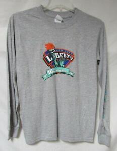 New York Liberty Mens S M XL or 2XL Long Sleeve 10th Anniversary T-Shirt A1 2403
