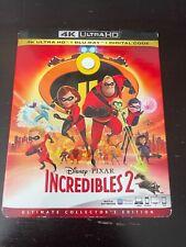 The Incredibles (4K Ultra Hd + 2 Blu-ray w/ Slipcover) No Digital, Like New