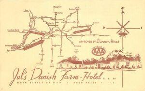Artist Impression 1940s Jul's Danish Farm Hotel Rock Falls Illinois 1499