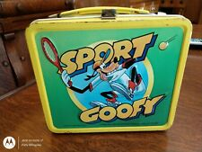 Vintage Sport Goofy Metal Lunch Box